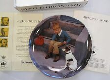 1984 Home is Best Boy & Dog Kurt Ard Bing & Grondahl Collector Plate