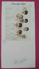 BTOB GROUP Official Photocard #2 REMEMBER THAT 8th Album Bookmark 단체