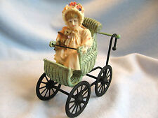dollhouse doll house miniature BABY STROLLER CARRIAGE BUGGY JAN HAGARA