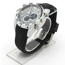 16GB 1080P HD Spy Camera Watch Metal DVR Hidden Recorder Night Vision IR LED CA