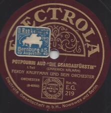 Ferdy Kaufmann Orchester 1928 spielt Csardasfürstin Emmerich Kalman