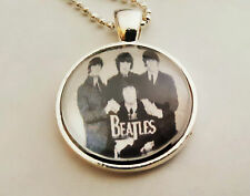 The Beatles Necklace Pendant Jewelry Fashion in Crystal Clear Glass