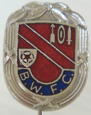 BOLTON WANDERERS Rare vintage club crest badge Maker S&E Stick pin 13mm x 18mm
