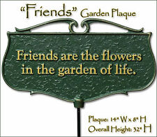 Whitehall Friends are the Flowers Garden Plaque Gift Sign Ships SAME DAY & FREE