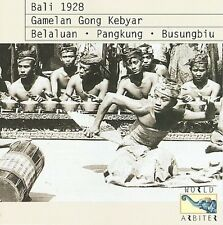 Bali 1928 I: Gamelan Gong Kebyar New CD