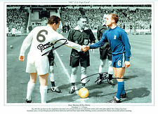 Ron Chopper HARRIS & Dave MACKAY Signed Autograph 16x12 FA Cup Photo AFTAL COA
