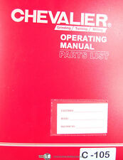 Chevalier 16TXIT, Milling Machine, Operations Electrical and Parts Manual