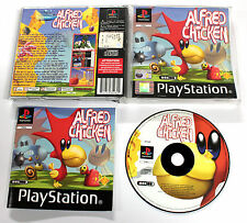 Sony PLAYSTATION PSX PSOne ALFRED CHICKEN 2002 Mobius SCES-03817 RARO