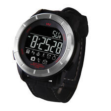 UU Waterproof Bluetooth Smart Watch Sport Tracker Watch for Android IOS Silver