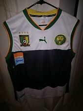 Puma CAMEROON CAMEROUN White Sleeveless Soccer Jersey Football 3XL World Cup