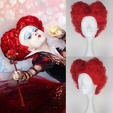 Red Curly Cosplay Hair Wig + Buns for Alice in Wonderland 2 The Queen of Hearts