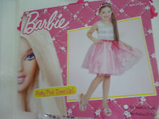 BARBIE - PRETTY PINK GIRLS DRESS UP COSTUME - SIZE Medium 5-7 YEARS - BRAND NEW