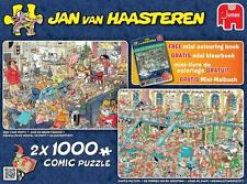 JUMBO JIGSAW PUZZLE HAPPY HOLIDAYS JAN VAN HAASTEREN 2 X 1000 PCS #19024 CARTOON