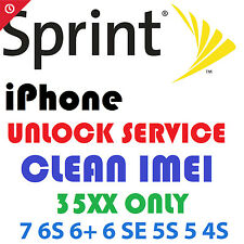 Sprint U.S. & Boost Mobile Official Unlock Service iPhone 7 6S 6 SE 5S 5C 5 4S