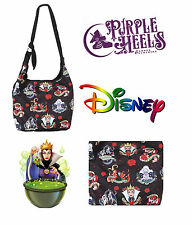 Loungefly / Disney Villains Tattoo Art Maleficent Ursula Cruella Hobo Bag