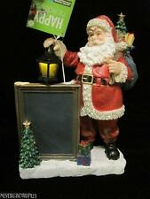 "12"" LED LIGHTED SANTA FIGURINE WITH CHALKBOARD~BOTTOM SWITCH~NWT"