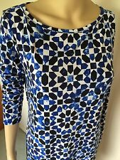 Michael Kors dress, size M, blue - white color, polyester/spandex, long sleeve