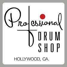 """Les tambours - """"professional drum shop type"""" autocollant"""" - 2 exemplaires - """"peel off/bâton""""."""