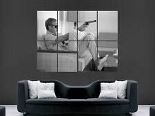 STEVE MCQUEEN LEGEND GUN FILM TV CLASSIC CULT MOVIE WALL POSTER ART LARGE
