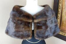 Excellent Wedding Vintage Small Medium Mink Fur Stole Wrap Shrug Jacket #2343s