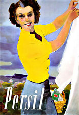 Art Ad Persil  Cleaner Soap Powder clothes washer Poster Print