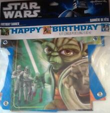 Star Wars Clone Wars 'Opposing Forces' Happy Birthday Banner  6FT Long, Hallmark