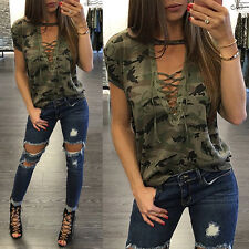 2017 Womens Summer Short Sleeve Loose Blouse Casual Shirt Tops T-Shirt S WFH06