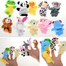 10Pcs Family Finger Puppets Cloth Doll Baby Educational Hand Cartoon Animals Toy
