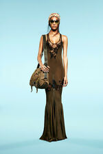 $4490 *EMILIO PUCCI* RUNWAY Butterfly Lace Embellished Silk Knit Dress NWT! M