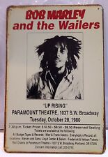 Bob Marley and The Wailers Vintage Retro Tin Metal Sign Plaque Stuio Workshop