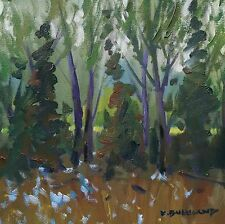 KYLE BUCKLAND WOODS TREES FLOWERS SPRING​ ART IMPRESSIONISM DAILY oil PAINTING