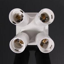 4 in 1 E27 Base Light Lamp Bulb Socket Splitter Adapter Converter Holder