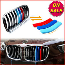 Fits BMW 5 Series GT F07 2009-2015 Kidney Grille M Tech 3 Colour Stripes Clips