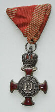 1849 AUSTRO Hungarian FJ MILITARY MERIT SILVER CROSS CROWN ORDER AUSTRIA MEDAL