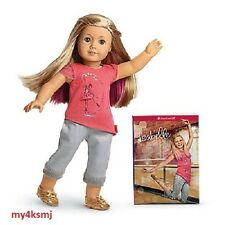 "American Girl ISABELLE Doll and BOOK +pink hair highlight 18"" doll SAME DAY SHIP"