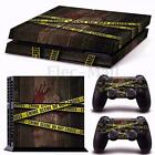 Vinyl Decal Skin Sticker Cover For PS4 Playstation 4 Console + 2 Controller Set