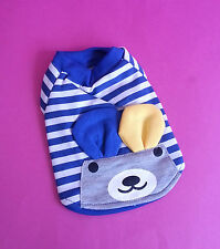 XS 18CM BLUE BUNNY FACE DOG JUMPER TOP CHIHUAHUA YORKIE PUPPY YORKIE