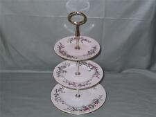 Wedgwood DEVON SPRAY 3-Tier Hostess China Piatto per torta stand PATT. w4076 LOTTO. un