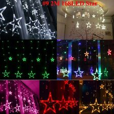 Icicle Hanging LED Curtain Fairy Lights Festive Xmas Wedding Party String Lights