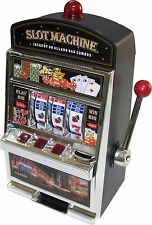 BIG SLOT MACHINE Piggy bank savings toy money game tokens pokies Gambling gift