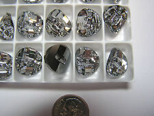 36 PCS SWAROVSKI BUTTONS/BEADS  #3016 14MM  CRYSTAL M-FOILED - FACTORY PACK