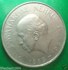 one 1 rupee 1964 Bombay Mumbai Death of Jawaharlal Nehru BIG commemorative coin