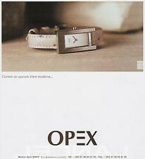 ▬► PUBLICITE ADVERTISING AD Montre Watch OPEX Kare 1999