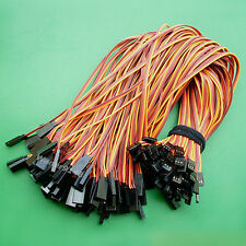 100 Pcs 30cm 22AWG 3Pin Servo Cable Extension Extend Lead Wire For Futaba JR