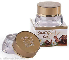 Pure Fresh 70% Snail extract Anti-age Face gel cream + Q10 + Rose water