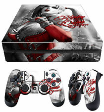 PS4 Slim Skin Harley Quinn Gotham Girl + Controller Decals Vinyl New LAY FLAT