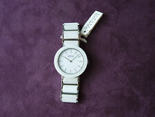 LADIES BERING SILVER-TONE WHITE LINK CERAMIC WATCH BAND MF# 11435-794 ORG. $199