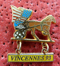 PIN'S SPORT EQUITATION CHEVAL USA COURSE VINCENNES STARPIN'S 93 ZAMAC