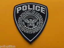 FANCY DRESS AMERICAN POLICE SEW ON / IRON ON PATCH:- POLICE (b) BLUE SHIELD