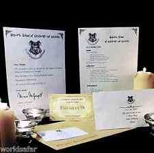 POUDLARD ACCEPTATION LETTRE + GRATUIT EXPRESS BILLET! ID�AL UNIQUE HARRY POTTER